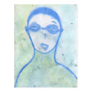 The Scientist, Chalk Drawing, Art Postcard