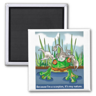 The Scorpion and the Frog 2 Inch Square Magnet
