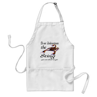 The scorpion sting adult apron