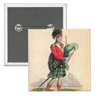 The Scotch Piper Pinback Button