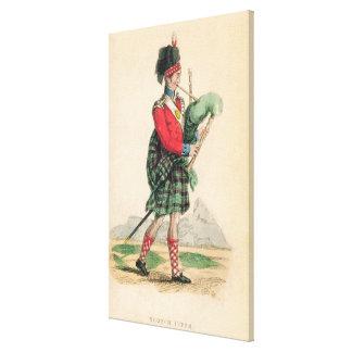 The Scotch Piper Canvas Print