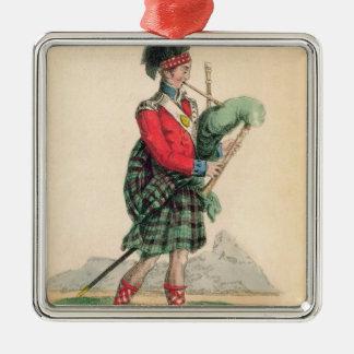 The Scotch Piper Metal Ornament