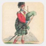 The Scotch Piper Square Sticker