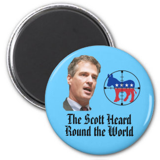 The Scott Heard Round the World 2 Inch Round Magnet