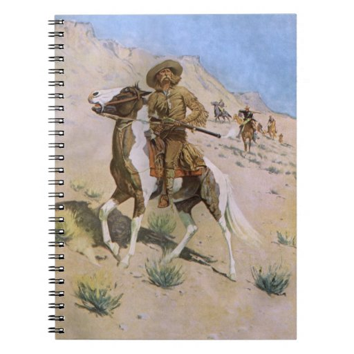 The Scout by Remington, Vintage Cavalry Cowboys Note Books