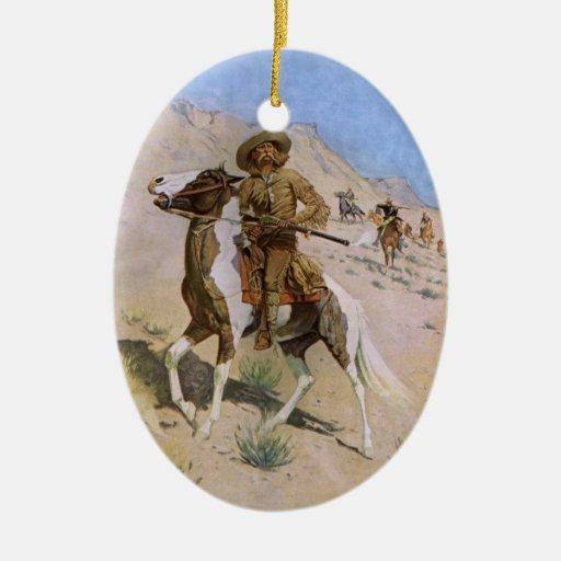 The Scout by Remington, Vintage Cavalry Cowboys Ornaments