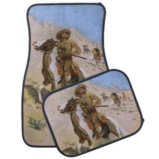 The Scout by Remington, Vintage Cavalry Cowboys Floor Mat