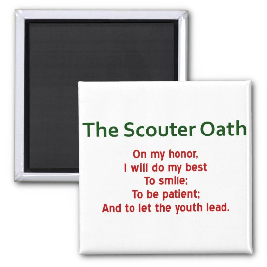 The Scouter Oath Magnet