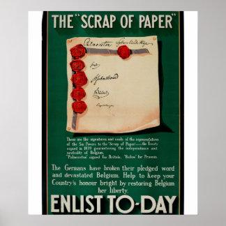 The 'Scrap of Paper'_Propaganda Poster
