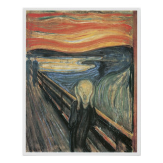 The Scream, 1893 Edvard Munch Poster