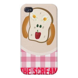 The Scream - 2 eggs, 2 olives, pepper & hotdogs iPhone 4/4S Case
