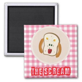 The Scream - 2 eggs, 2 olives, pepper & hotdogs Magnet