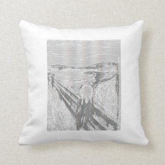 The Scream ASCII Art Pillow 20 x 20