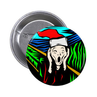 THE SCREAM AT CHRISTMAS BUTTONS