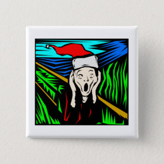 THE SCREAM AT CHRISTMAS PINBACK BUTTON