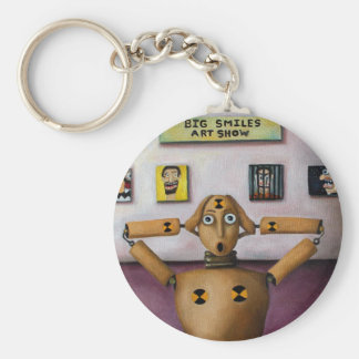 The Scream At The Big Smiles Art Show Basic Round Button Keychain