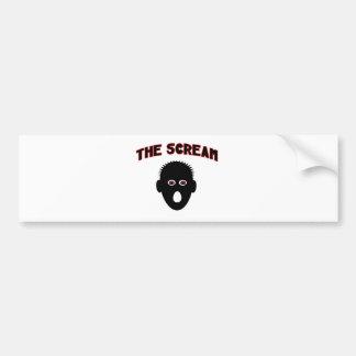 The Scream Bumper Sticker