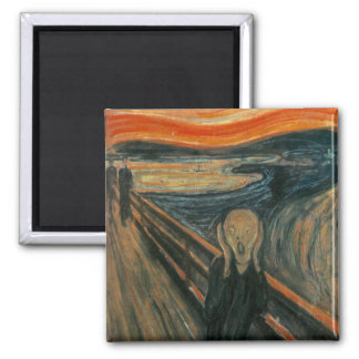 The Scream by Edvard Munch 2 Inch Square Magnet
