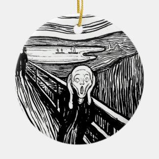 The Scream by Edvard Munch Christmas Ornament