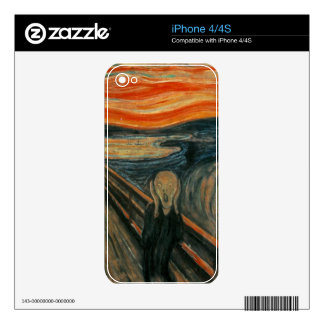 The Scream by Edvard Munch Decals For The iPhone 4S