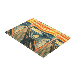 The Scream by Edvard Munch Doormat