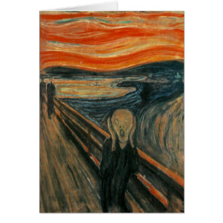 The Scream by Edvard Munch Greeting Card