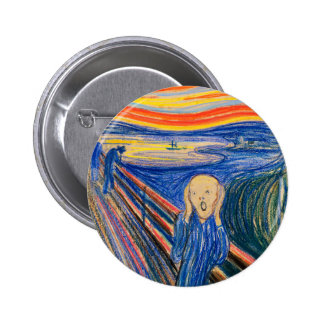 The Scream by Edvard Munch (in pastel) Modern Art Pins