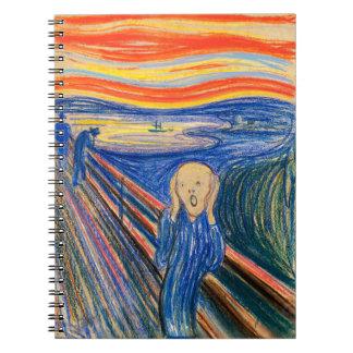 The Scream by Edvard Munch (in pastel) Modern Art Note Books