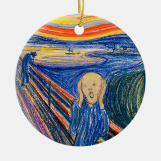The Scream by Edvard Munch (in pastel) Modern Art Christmas Ornaments