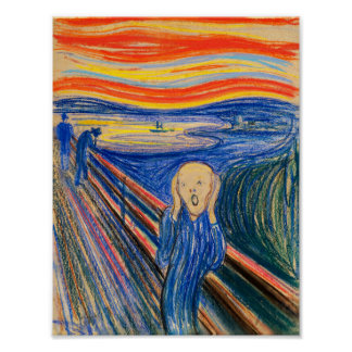 The Scream by Edvard Munch (in pastel) Poster