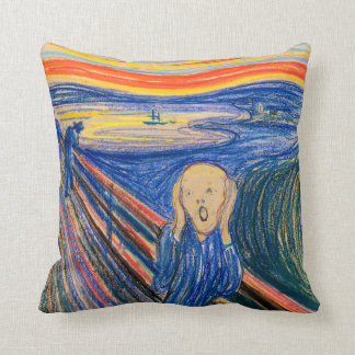 The Scream by Edvard Munch (in pastel) Throw Pillow