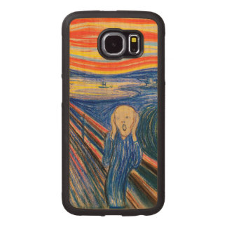 The Scream by Edvard Munch (in pastel) Wood Phone Case