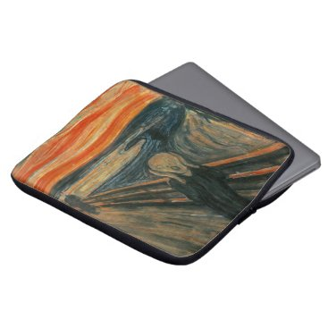 Ladiebug The Scream by Edvard Munch Laptop Sleeve