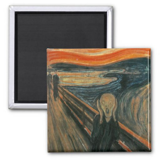 The Scream by Edvard Munch Magnets