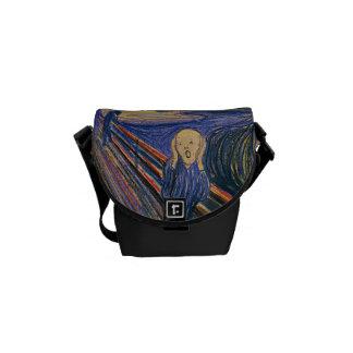 The Scream by Edvard Munch Messenger Bag