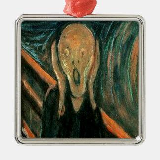The Scream by Edvard Munch Metal Ornament