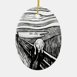 The Scream by Edvard Munch Christmas Ornaments