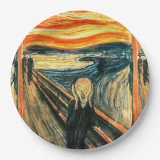 The Scream by Edvard Munch Paper Plate