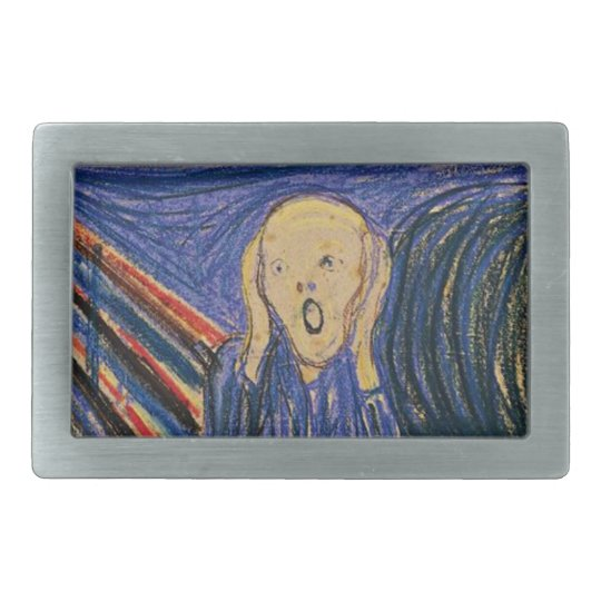 The Scream by Edvard Munch ~ Pastel Belt Buckle