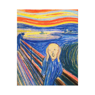 The Scream by Edvard Munch (pastel) Canvas Print