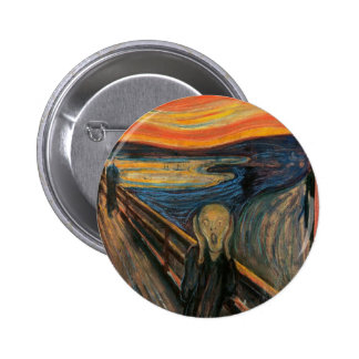 The Scream by Edvard Munch Pinback Button