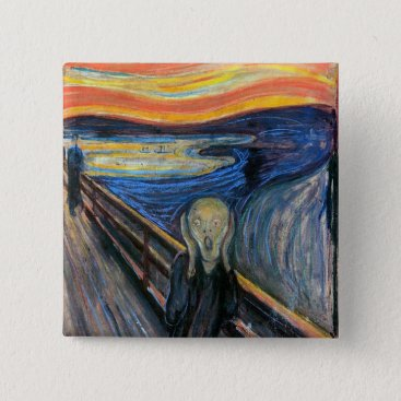 original_designs The Scream by Edvard Munch Pinback Button