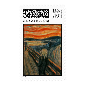 The Scream by Edvard Munch Postage