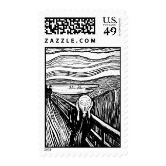 The Scream by Edvard Munch Postage Stamp