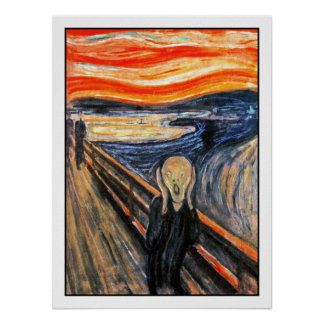 """The Scream""  by Edvard Munch Poster"