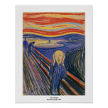 The Scream by Edvard Munch Poster