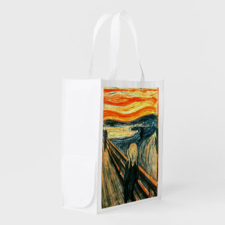 The Scream by Edvard Munch Reusable Grocery Bag