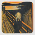 The Scream by Edvard Munch Square Sticker