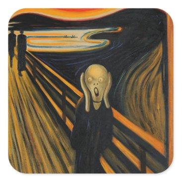 AV_Designs The Scream by Edvard Munch Square Sticker