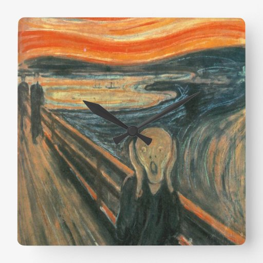 The Scream by Edvard Munch Square Wallclock